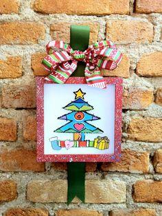 Quadrinho de Natal com fita e laço (clique na foto e confira).