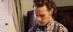 Sam Heughan for Barbour (x) Outlander Casting, Samheughan, Jamie And Claire, Caitriona Balfe, Diana Gabaldon, Jamie Fraser, It Cast, Season 3, Gifs