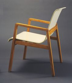 "Stacking Armchair (model 403)  Alvar Aalto (Finnish, 1898–1976)    1931-32. Birch, 30 3/8 x 21 x 23 x 14 1/2"" (77.2 x 53.3 x 58.4 x 36.8 cm). Manufactured by Oy Huonekalu-ja Rakennustyötehdas Ab, Turku, Finland. Purchase"