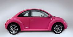 Volkswagen Beetle Barbie  Volkswagen Beetle Barbie is decked-up in pink! The VW Beetle, is finished in a retina-searing hot pink paint job and is decorated with strategically-placed Barbie logos.