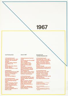 Muller-Brockmann, Josef poster /   Juni-Festwochen 1967