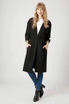 Belted Storm Flap Duster Coat, £45 | Topshop