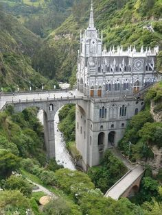 Las Lajas Cathedral Sanctuary: Ipiales, Colombia --- Close to the Ecuador border, it is said to be the most beautiful church in the world.