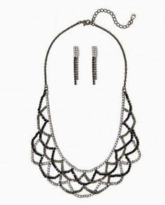 Swanky Scallops Necklace Set