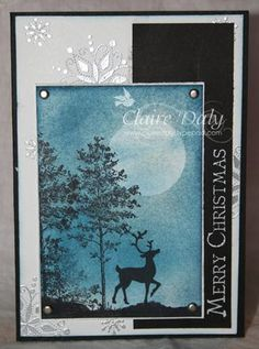 Sponged Night Sky ... - Stampin Up Australia: Claire Daly Independent Demonstrator Melbourne, Victoria