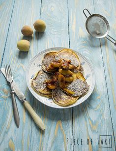 #yoghurt #pancakes with #caramelised #fruits
