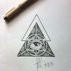 Another 4 elements compass center minus the second triangle outline Finger Tattoos Words, Hand Tattoos For Guys, Dot Tattoos, Tatoos, Horus Tattoo, Pyramid Tattoo, All Seeing Eye Tattoo, Psychedelic Tattoos, Triangle Tattoos