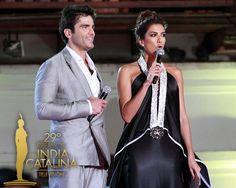 Ernesto Calzadilla y Andrea Serna presentadores de los Premios Inidia Catalina 2013