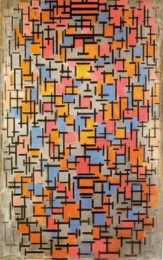 Piet Mondrian / Composition (Compositie) / 1916 / Oil on canvas, with wood / Guggenheim
