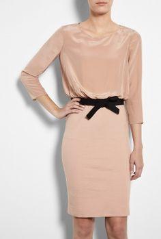 Blouson Silk Dress by Moschino Cheap