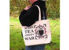 Mountain Rose Herbs: Tote Bag- Make Tea Not War