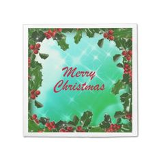 Merry Christmas Paper Napkins - Disposable