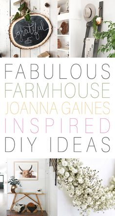 Fabulous Farmhouse Joanna Gaines Inspired DIY Ideas awaits you! Tons of DIY Tutorials that will have you decorating like the Queen of Farmhouse in a snap! Country Chic Cottage, Country Farmhouse Decor, Farmhouse Style Kitchen, Country Style Homes, Farmhouse Ideas, Farmhouse Chic, Mary's Kitchen, Craftsman Kitchen, Primitive Country