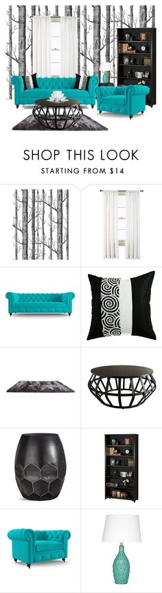 """Untitled #263"" by tjoyreeves1 on Polyvore featuring interior, interiors, interior design, home, home decor, interior decorating, Royal Velvet, Joybird, Gold Sparrow and Tribecca Home"