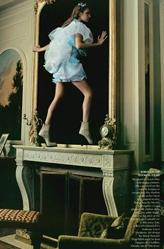 "Alice In Wonderland "" by Annie Leibovitz with model Natalia Vodianova for Vogue US December 2003"