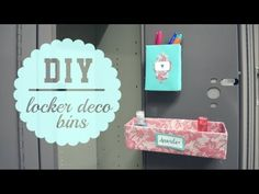 DIY Locker Decor Bins { Back to School }. I filmed some videos there (and of course, a haul) so stay tuned for those! I hope you enjoy this Back to School DIY School Locker Organization, School Lockers, Organization Ideas, Organizing, Loker Ideas, Diy Locker, Locker Stuff, Locker Decorations, Cute School Supplies