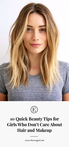 10 quick beauty tips for girls who are not interested in hair and make-up – Beauty Hacks Beauty Tips For Girls, Beauty Hacks For Teens, Beauty Tips And Tricks, Beauty Tips Quick, Hair Tricks, Skin Care Regimen, Skin Care Tips, Makeup Tips, Hair Makeup