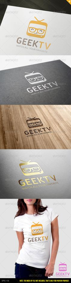 Geek TV Logo Template Vector EPS, AI Illustrator. Download here: https://graphicriver.net/item/geek-tv-logo/3840376?ref=ksioks