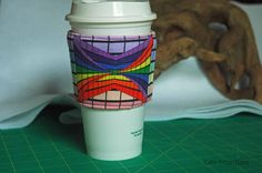 Perspectives Revisited Rainbow - Coffee Sleeve #9 by CafeProjections on Etsy