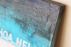 Art Tutorial - How to create a distressed canvas painting using collage and glazing.