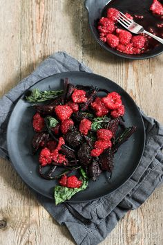 Roasted beets with sweet and sour raspberries | Chocochili.net