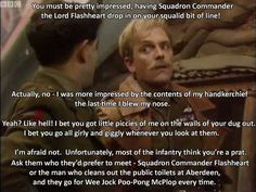 British Comedy Series, British Tv Comedies, Lord Flashheart, British Insults, Blackadder Quotes, Only Fools And Horses, Uk Tv, Funny Jokes For Adults, Comedy Tv