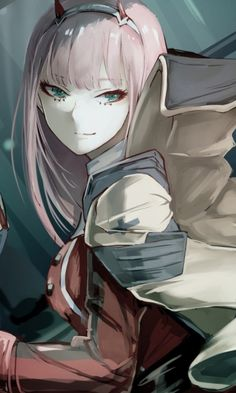 Zero two, anime girl, artwork, 480x800 wallpaper