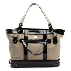 Nest Canvas Diaper Bag Tan/Black   Designer Diaper Bags ($220) via Polyvore