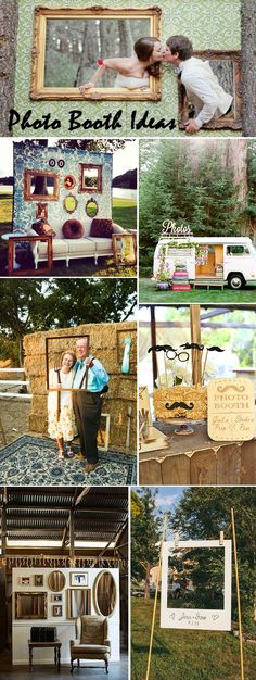 wedding photo booth ideas to get all your guests happy involved