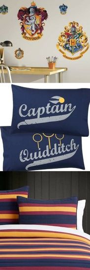 Harry Potter Bedding Galore!!! #harrypotter #teenbedding #bedding #ad #shopthelook