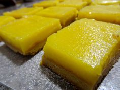 Meyer Lemon-Brown Butter Bars-- like sunshine in your mouth! :)