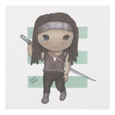 Michonne Baby Collectible Art Panel Print - original gifts diy cyo customize