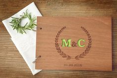 Custom Wood Wedding Guest Book, Wedding Present, Christmas Gift, Bride and…