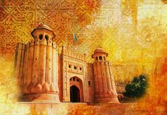 Shahi Qilla or Royal Fort by Catf Birthday Background Design, Iphone Background Images, Banner Background Images, Light Background Images, Wallpaper Backgrounds, Pakistan Art, Lahore Pakistan, Printable Birthday Banner, Holi Images