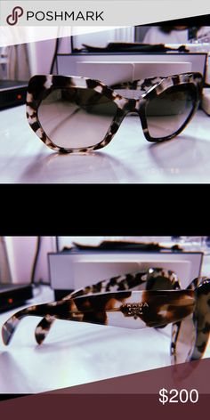 8087379f221 Prada women s havana black round sunglasses New with tag Style ...
