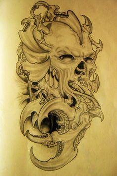 crâne et griffes