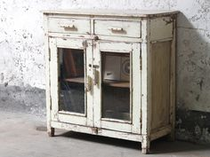 White Storage Cabinet from Scaramanga's vintage interiors collection