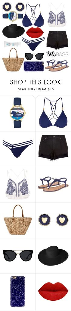 """Meu estilo praiano"" by hemyhathaway ❤ liked on Polyvore featuring Kate Spade, ViX, L'Agent By Agent Provocateur, rag & bone, River Island, Chinese Laundry, Straw Studios, Brooks Brothers, Quay and Dorfman Pacific"