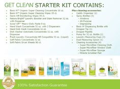 The Shaklee Get Clean Starter Kit has everything you need to clean green in your home or office!