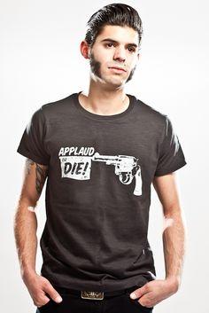 T-shirt Applaud or Die homme - www.wearetheneons.com - photo© www.levetchristophe.fr