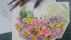 꽃,꽃 수염,꽃 일러스트, flower illust