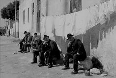 Men sitting - Sicily