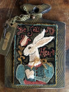 although this is needle punched, this is actually my design, ©Notforgotten Farm and is adapted for rug hooking with my permission by Kris Miller Spruce Ridge Studios :)