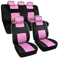 BDK Universal Fit 11-piece Premium Fresh Mesh Car Seat Covers - Black/