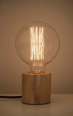 Kupla Minimalist Wooden Table Lamp by VALOdesign on Etsy