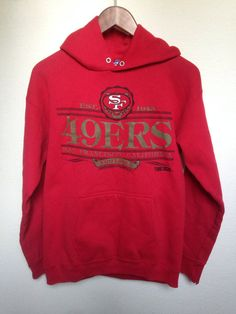 1988 Vintage 49ers hooded sweatshirt San by twinflamesboutique