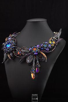 Primrose vol.II necklace with Swarovski crystals and miyuki beads