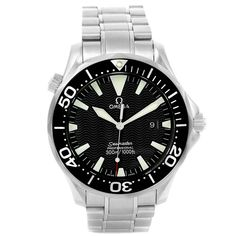 14826 Omega Seamaster 300m Black Dial Stainless Steel Mens Watch 2264.50.00 SwissWatchExpo
