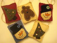 Wool Ornaments Free Pattern