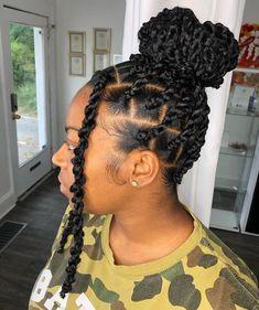 Faux Locs Hairstyles, Black Girl Braided Hairstyles, Protective Hairstyles For Natural Hair, Natural Hair Braids, Twist Braid Hairstyles, Baddie Hairstyles, African Braids Hairstyles, Braids For Black Hair, Twist Braids